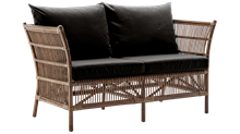 Sika design kurvesofa - Donatello - antik