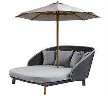 Daybed inklusiv parasol - Cane-line peacock