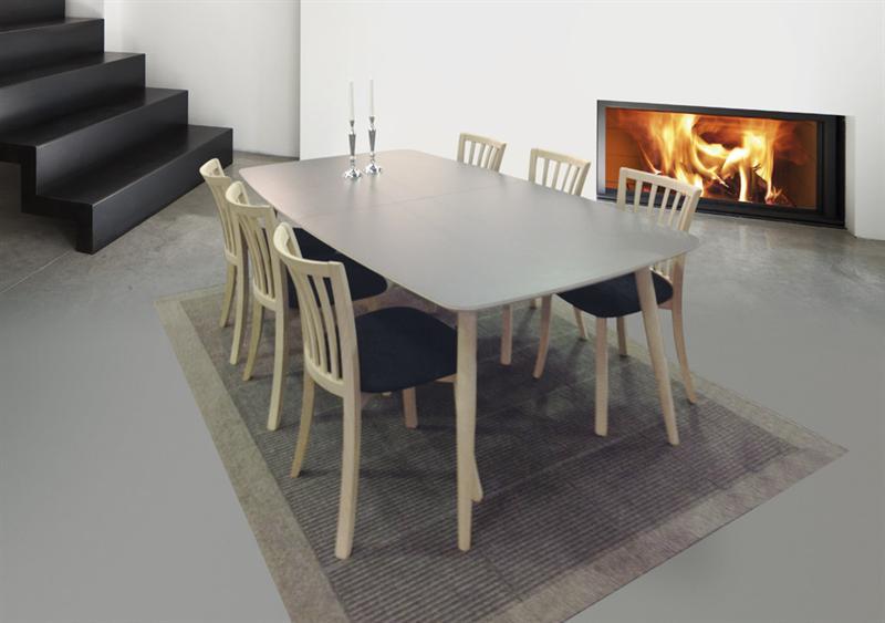 Haslev spisebord symphony 30 med udtræk - laminat top hvid eller grå